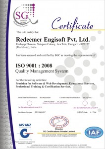 ISO 9001:2008 Crtified Company